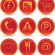 Web icons set — Stock Vector #1385775