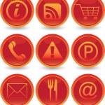 Web icons set — Stock Vector