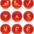 Financial web icons set — Vector de stock