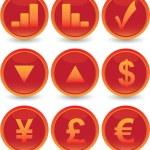 conjunto de iconos web financiera — Vector de stock