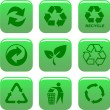 Stock Vector: Environment and recycle icons
