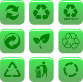 Environment and recycle icons — Stock Vector