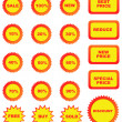 Royalty-Free Stock Vector Image: Set of color price tags