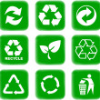 Environment and recycle icons - Image vectorielle