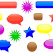 Stock Vector: Glossy speech and thought bubbles