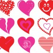 Vector heart set — Stock Vector