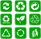 Environment and recycle icons — Stockvektor