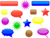Glossy speech and thought bubbles — Stock Vector