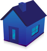 Blue house — Stock Vector