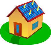 Solar energy house — Stock Vector