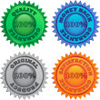 Royalty-Free Stock Vector Image: Set of color labels for retail
