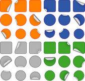 Färgglada tom klistermärken — Stockvektor