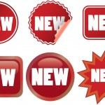Set of vector New labels — Stock Vector