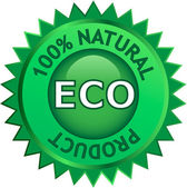 Natural Eco product label — Stock Vector