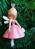 The fairy in a pink dress — Stock Photo