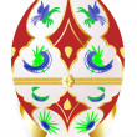bir tabut şeklinde yumurta — Stok Vektör