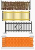 Fence versions — Stock Vector