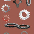 Gear wheel version — Stock Vector