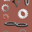 Gear wheel version — Stock Vector