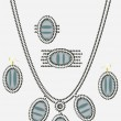 Set of female ornaments, beads — Imagen vectorial