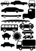 Car contour — Stock Vector