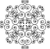 Swirly pattern (cross) — 图库矢量图片