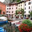 Italy. Lake Garda. Gargnano town - Stock Photo