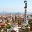 Spain. Barcelona city. Building by Gaudi — Stock Photo #1165729
