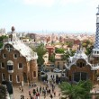 Spain. Barcelona city. Buildings by Gaud - Stock Photo