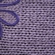 Stock Photo: Lilac knitted fabric cuse as backgrou