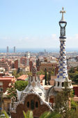 Spain. Barcelona city. Building by Gaudi — Stock Photo