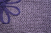 Lilac knitted fabric can use as backgrou — Stock Photo