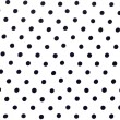 White fabric with black dots can use as - Stock Photo