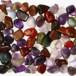 Semiprecious stones on white background — Stock Photo