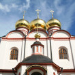Golden domes of Valdaisky Iversky Svyato - Stockfoto