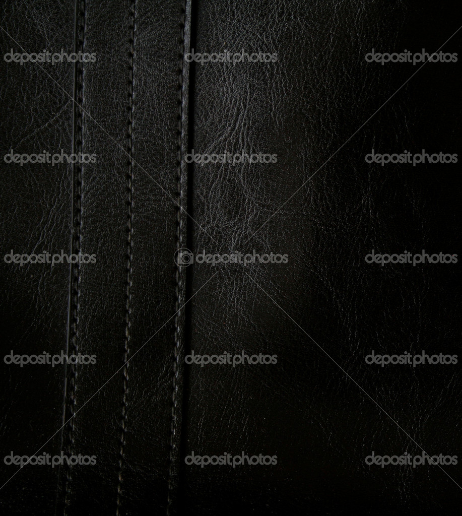 Close-up of black leather texture can use as background   Stock Photo #1198821