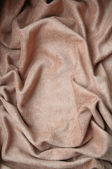 Beige velvet fabric as background — Zdjęcie stockowe