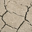 Crack soil texture as ecocatastrophe bac — Stock Photo