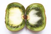 Kiwi fruit on a white background — Stock Photo