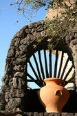 Italy. Ischia Island. An amphora — Stock Photo