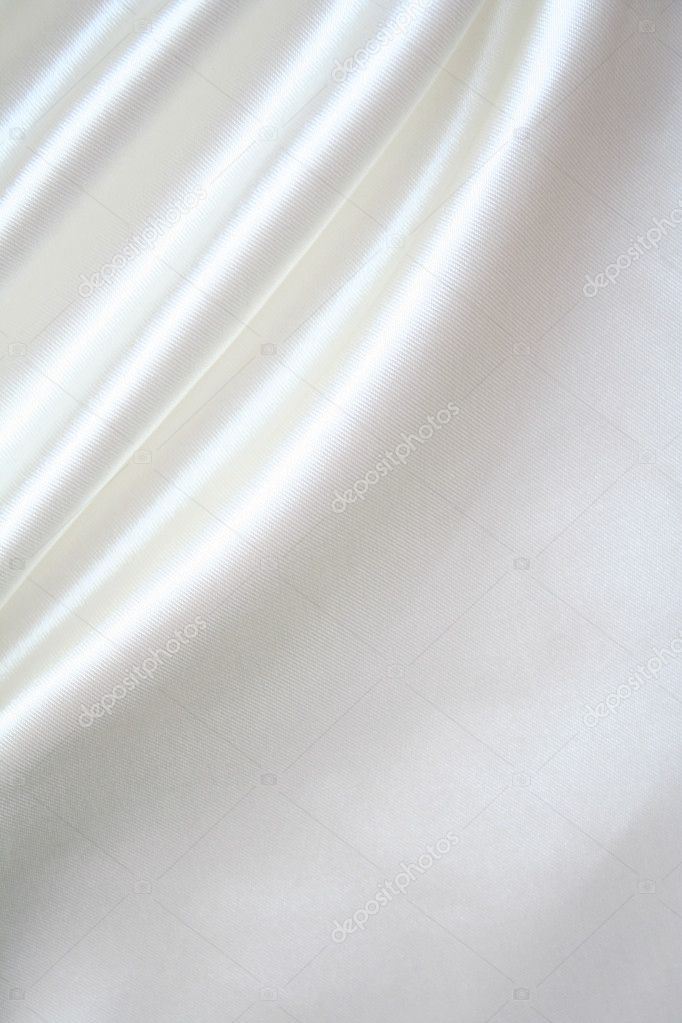 Smooth elegant white silk can use as background  — Stock Photo #1318336