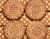 背景として甘いクッキー — ストック写真