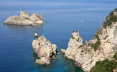 Yunanistan. corfu, paleokastrica coast — Stok fotoğraf