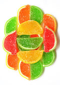 Doces de gelatina colorida — Fotografia Stock