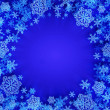 Royalty-Free Stock Photo: Template with crystal snowflake
