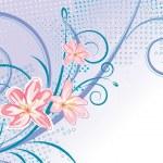 Pink flower — Stock Vector