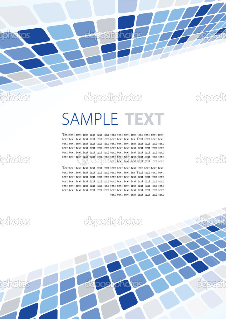 Abstract blue template with copy space — Stock Vector #1202884