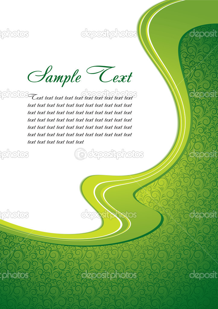 Green abstract template with copy space — Stock Vector #1202980