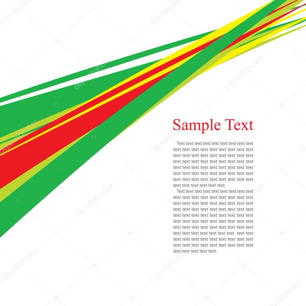 Green, red and yellow perspective line  Stock Vector #1248293