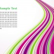 Purple and green striped background — Image vectorielle